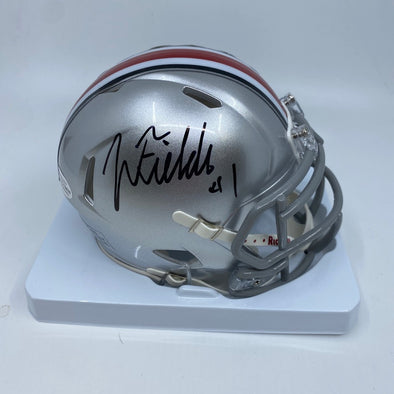 Justin Fields Signed Ohio State Buckeyes Speed Mini-Helmet