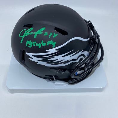 "Jalen Reagor Signed Philadelphia Eagles Eclipse Mini-Helmet ""Fly Eagles Fly"""