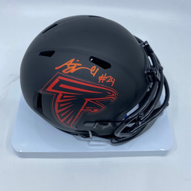 AJ Terrell Signed Atlanta Falcons Signed Speed Eclipse Mini-Helmet