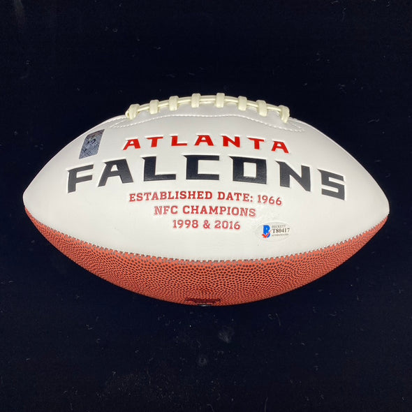 Calvin Ridley Signed Atlanta Falcons White Panel Football
