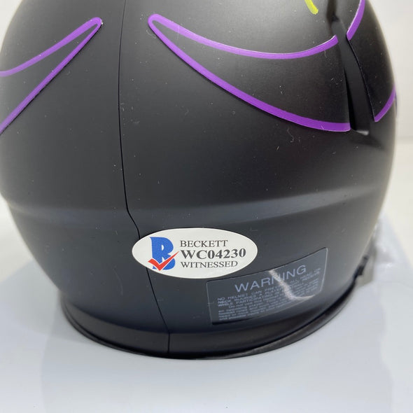 Kirk Cousins Signed Minnesota Vikings Eclipse Mini-Helmet