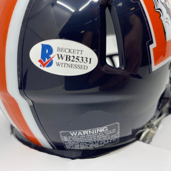 Jerry Jeudy Signed Denver Broncos Color Rush Speed Mini-Helmet