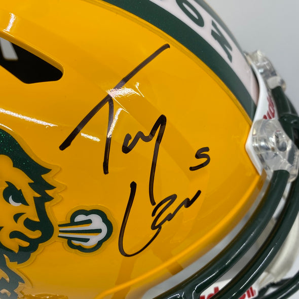 Trey Lance Signed North Dakota State Bison Speed Replica Helmet