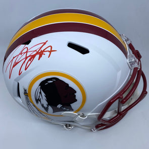Dwayne Haskins Signed Washington Redskins Matte White Replica Helmet