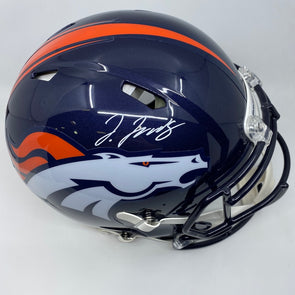 Jerry Jeudy Signed Denver Broncos Full Size Authentic Speed Helmet