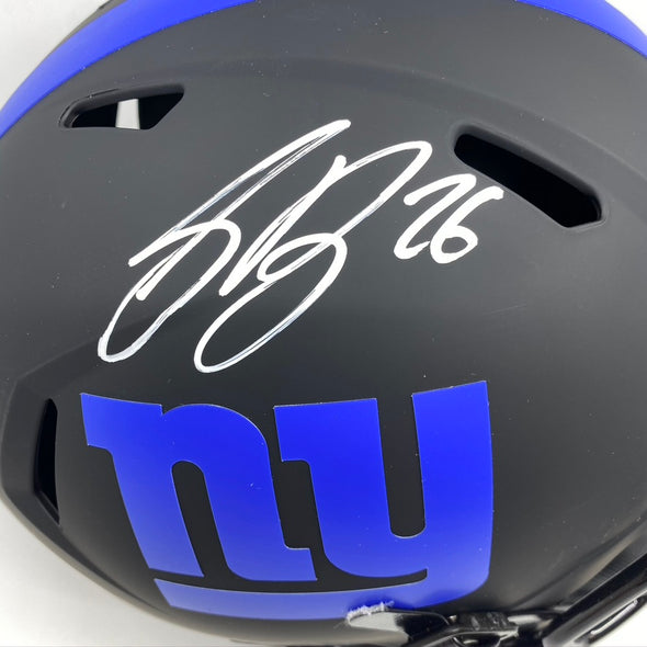 Saquon Barkley Signed New York Giants Full Size Eclipse Replica Helmet