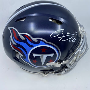 Ryan Tannehill Signed Tennessee Titans Lunar Speed Authentic Helmet