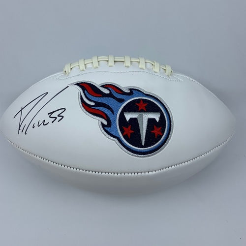 Dion Lewis Signed Tennessee Titans White Panel Football