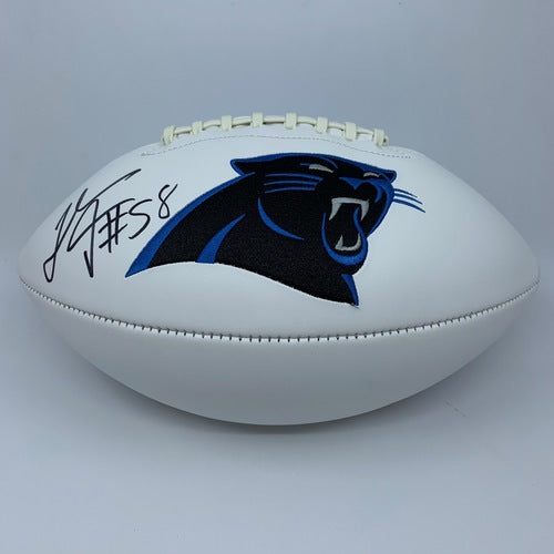 Thomas Davis Sr Signed Carolina Panthers White Panel Football