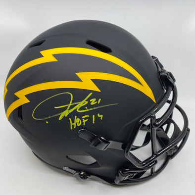"LaDanian Tomlinson Signed San Diego Chargers Eclipse Replica Helmet ""HOF 2017"""