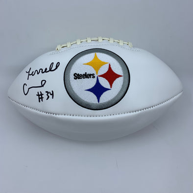 Terrell Edmunds Signed Pittsburgh Steelers White Panel Football