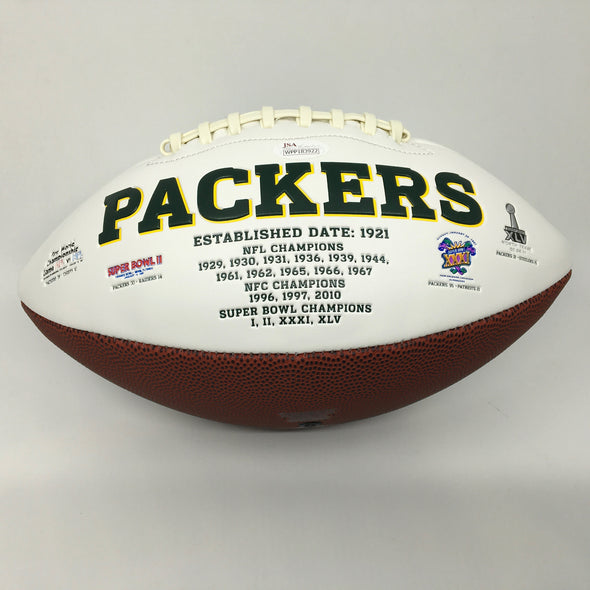 Blake Martinez Signed Green Bay Packers White Panel Football