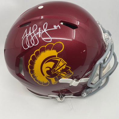 JuJu Smith Schuster Signed USC Trojans Full Size Replica Speed Helmet