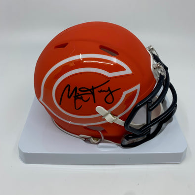 Mitchell Trubisky Signed Chicago Bears Amp Mini-Helmet