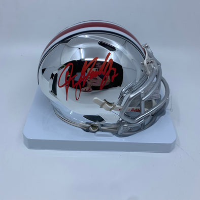 Dwayne Haskins Signed Ohio State Buckeyes Chrome Mini-Helmet