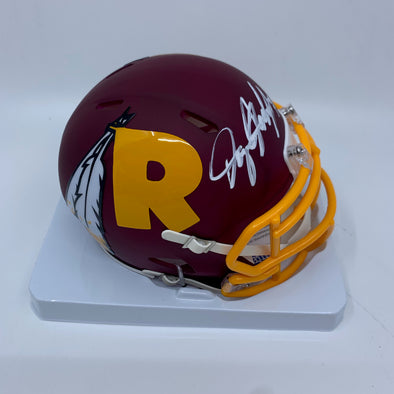 Dwayne Haskins Signed Washington Redskins Amp Mini-Helmet
