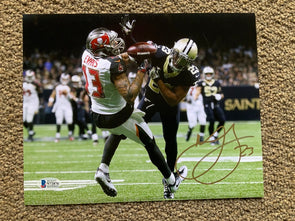 Marshon Lattimore Signed New Orleans Saints Pass Break-Up 8x10 Photo Gold Ink