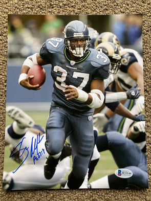 "Shaun Alexander Signed Seattle Seahawks 8x10 ""Breakaway"" Photo"