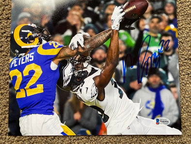 "Marcus Peters Signed Los Angeles Rams 8x10 ""Pass Breakup"" Photo"