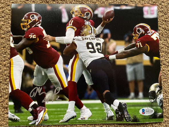 "Marcus Davenport Signed New Orleans Saints 8x10 ""Sack"" Photo"