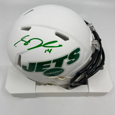 Sam Darnold Signed New York Jets Matte White Mini-Helmet