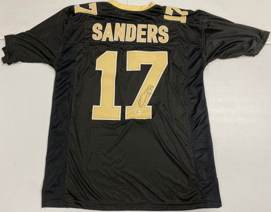 Emmanuel Sanders Signed Black/Gold Custom Jersey