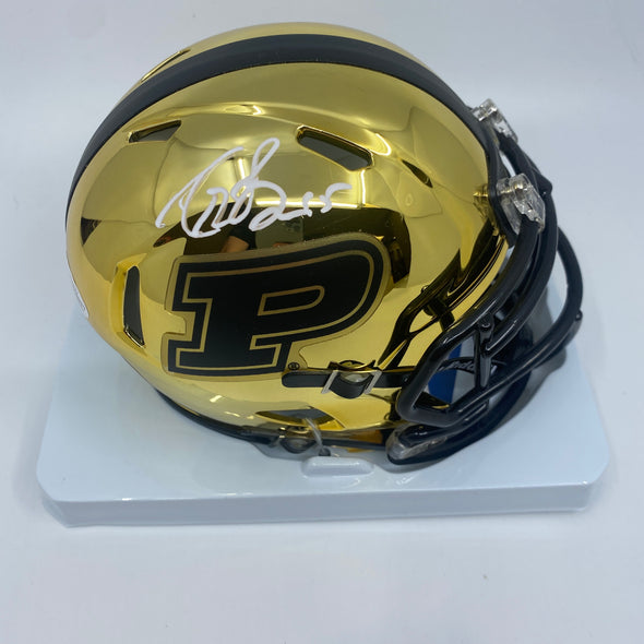 Drew Brees Signed Purdue Boilermakers Chrome Mini-Helmet