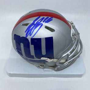 Saquon Barkley Signed New York Giants Amp Mini-Helmet-Blue Ink