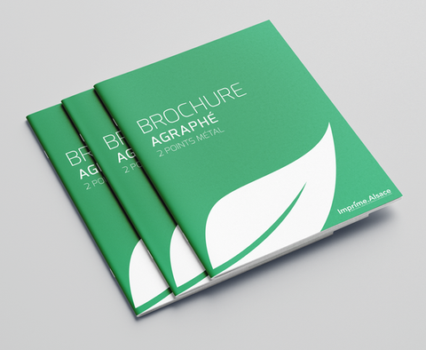 Brochure livret A6 recycle sans couverture 12 pages