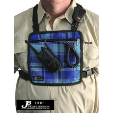 UHF Harness Chest Blue, with Microphone Holder. JB UHF Harnesses