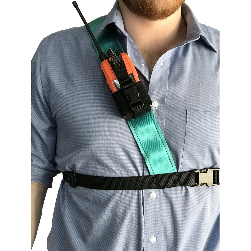 Radio Harness, Simple Shoulder, Duck Egg Blue