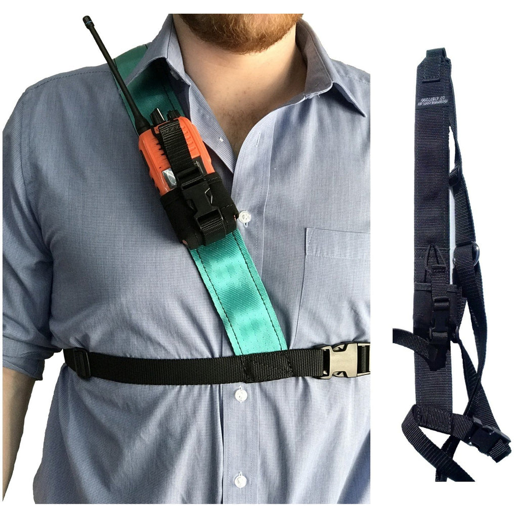 Radio Harness,  Simple Shoulder, Black