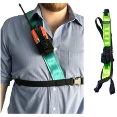 Radio Harness, Simple Shoulder, Lime\Yellow