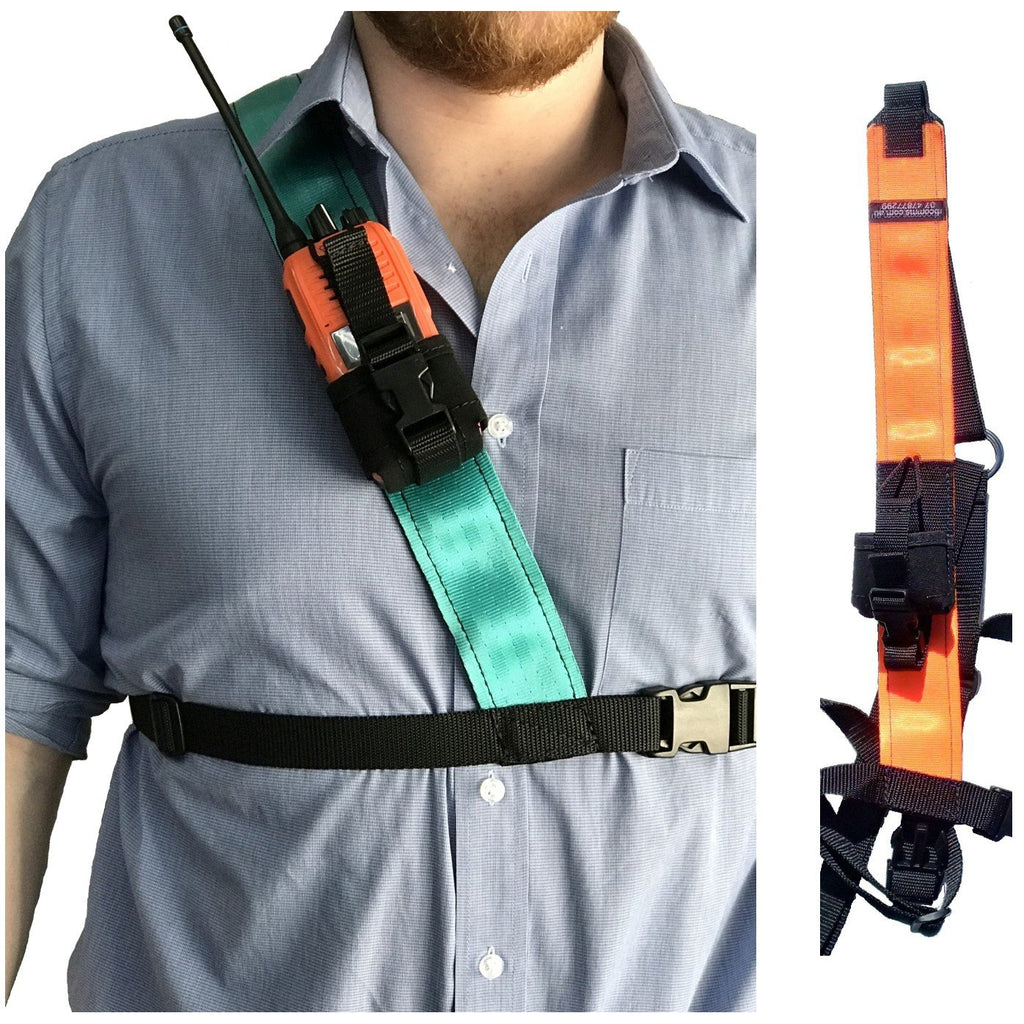 Radio Harness, Simple Shoulder, Orange