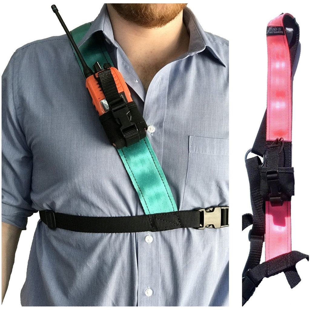 Radio Harness, Simple Shoulder, Pink