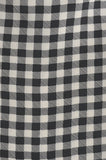 Black & Winter White Checks Silk Cravat - KITOKO
