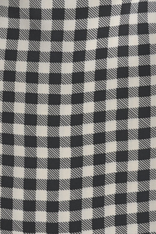 Black & Winter White Checks Silk Cravat