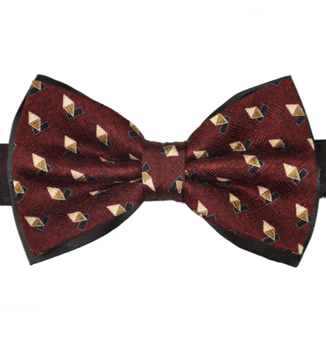Diamonds Print Silk Bow Tie