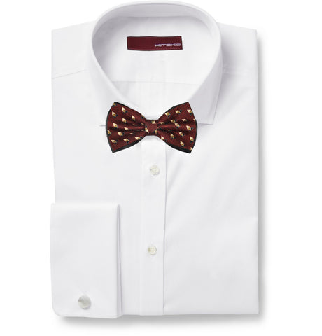 Diamonds Pattern Silk Bow Tie