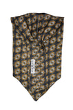 Gold & Grey Print Silk Cravat - KITOKO