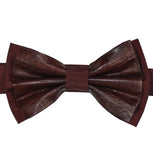 Burgundy Leather Bow Tie - KITOKO