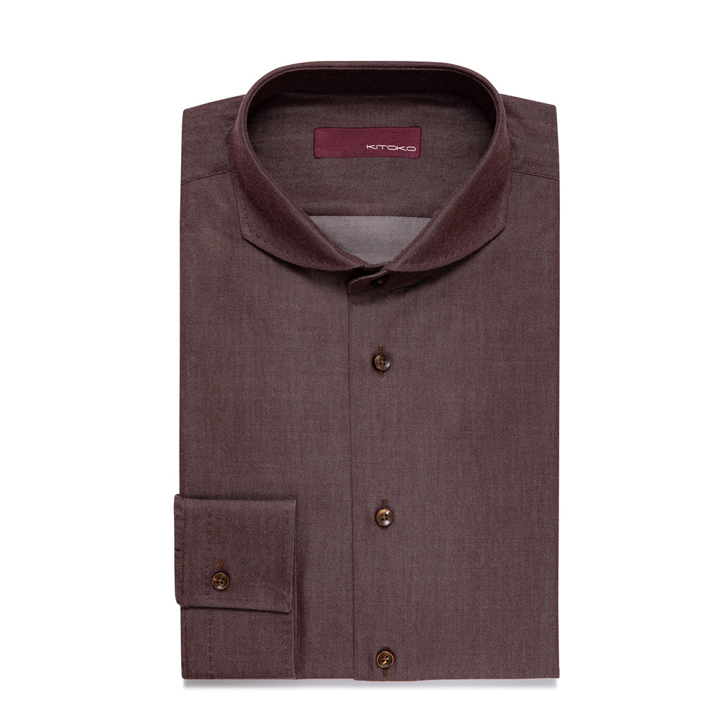 Hai Curved Pique Button Cuff Shirt - KITOKO
