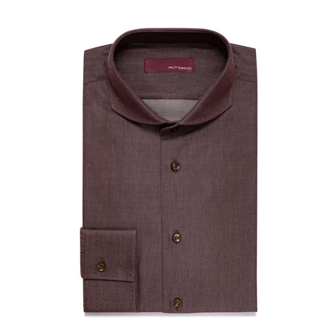 Hai Curved Pique Button Cuff Shirt