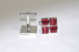 Red Square Cufflinks - KITOKO