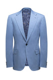 Light Blue Cotton SB1 Suit MTO - KITOKO