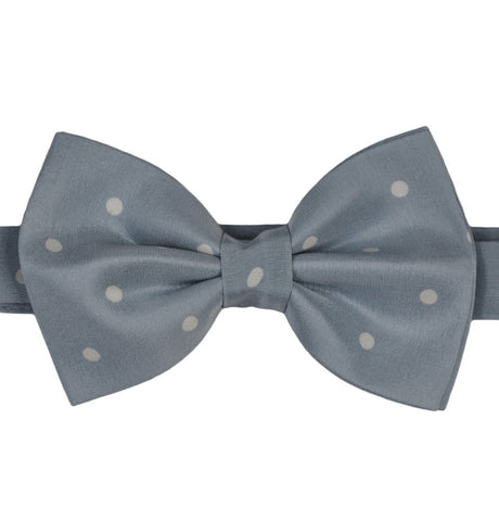 Blue Polka Dots Silk Bow Tie