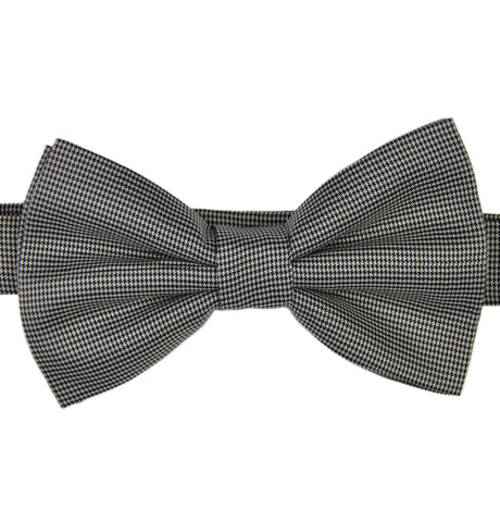 Puppytooth Black Bow Tie