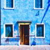 Watercolour  Italy Venice Blue Wall 0252