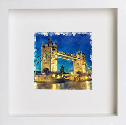 Watercolour England London Tower bridge 0263 - [Lumartos]