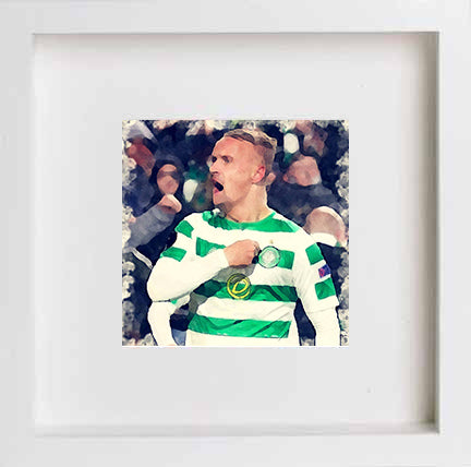 Watercolour Glasgow Celtic Legend Leigh Griffiths 0264